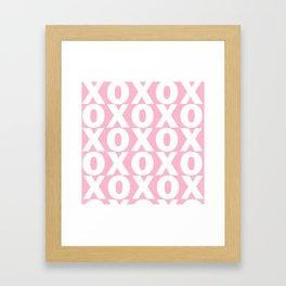 XOXO - Light Pink Pattern Framed Art Print