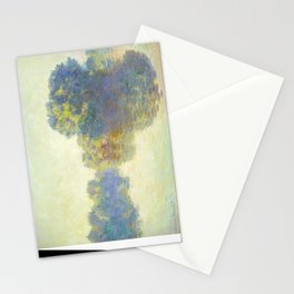 The Seine at Giverny Claude Monet 1897 Impressionist Oil Painting Nature Trees Lake Landscape Stationery Cards