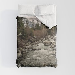 Winter Begins - River Mountain Nature Photography Comforters