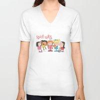 spice girls V-neck T-shirts featuring Spice Girls Kids by The Drawbridge
