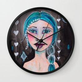 Midnight whimsy Wall Clock
