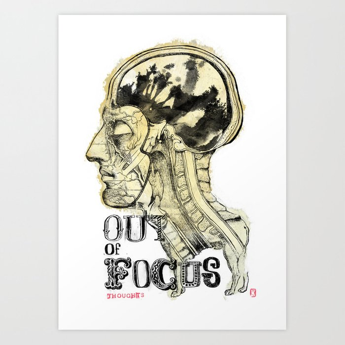 Out of Focus Thoughts Art Print