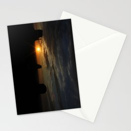 Sunrise over Monument Valley East & West Mitten Buttes Stationery Cards