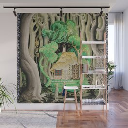 1925 Classical Masterpiece 'Hansel and Gretel by Brothers Grimm' by Kay Nielsen Wall Mural