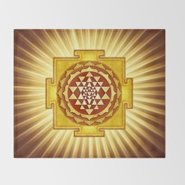 Sri Yantra IV.V Throw Blanket