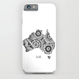Australia Map Mandala 1 iPhone Case