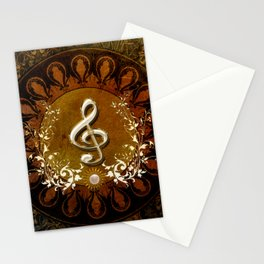 Music, wonderful decorative clef Stationery Cards