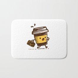 Running Latte! Bath Mat