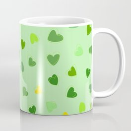 Love, Romance, Hearts - Yellow Green Coffee Mug