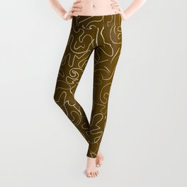 Doodling on Brown Leggings