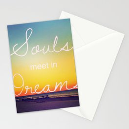 Souls Meet in Dreams Stationery Cards