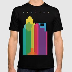 Shapes of Houston. Accurate to scale Mens Fitted Tee Black X-LARGE