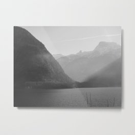 Good morning, Austria - Black and White Metal Print