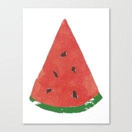 Watercolor Watermelon Canvas Print