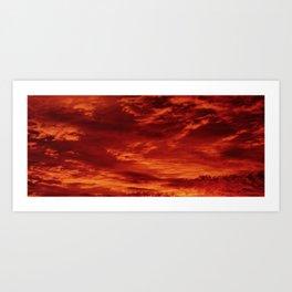 Inferno Skies Art Print