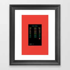 High Scores Framed Art Print