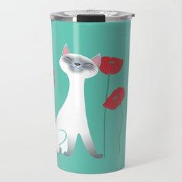 Siamese & Poppies Travel Mug