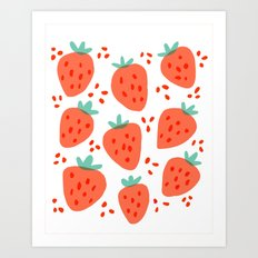 Strawberry Patch Art Print