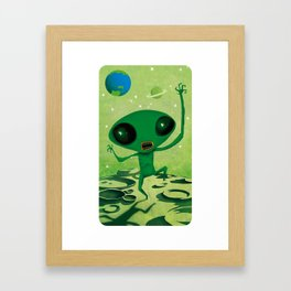 greeny boy Framed Art Print