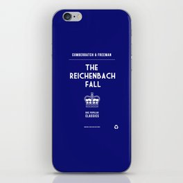 BBC Sherlock The Reichenbach Fall Minimalist Poster iPhone Skin