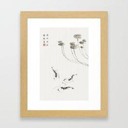 Summer shrimp Framed Art Print