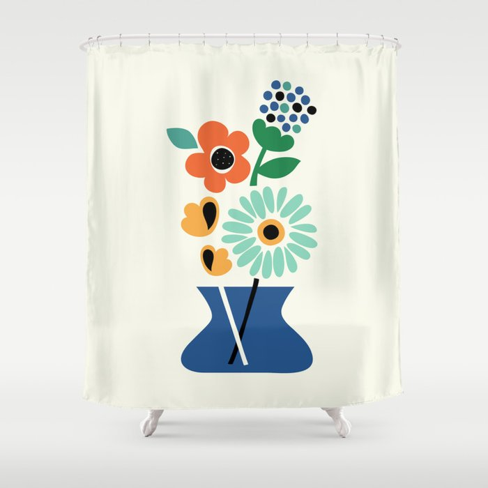 Floral Time Shower Curtain