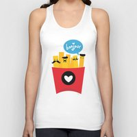 french fries Tank Tops featuring French Fries by Reg Silva / Wedgienet.net