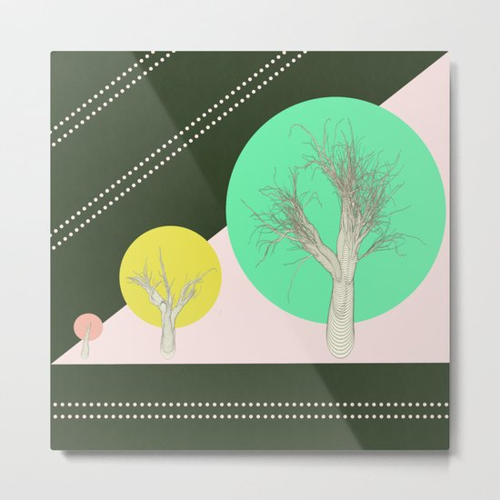 In my world forests are geometric Metal Print