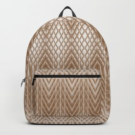 Cool Elegant Frosted Mocha Geometric Design Backpack