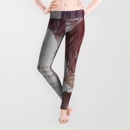 You Lied: Rainbow (nude girl with mehndi tattoos) Leggings
