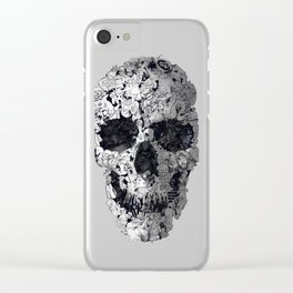 Doodle Skull Clear iPhone Case