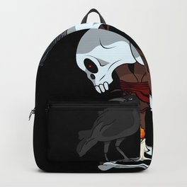 Skull hex Crow video game Backpack