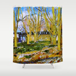 Avenue of Plane Trees near Arles Station, Vincent van Gogh Shower Curtain