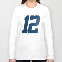 seahawks Long Sleeve T-shirts featuring 12 SEATTLE by FanCity