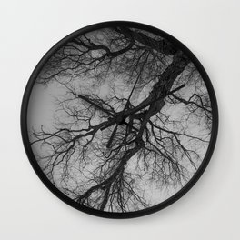 Lungs of the Earth | Nature Photography | Weeping Willow | Black and White | black-and-white | bw Wall Clock