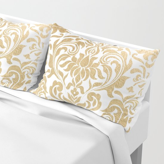 Gold foil swirls damask #12 by julianarw
