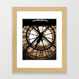 Parisian time Framed Art Print