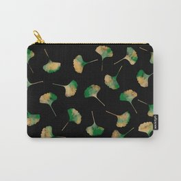 Ginkgo biloba leaves black Carry-All Pouch