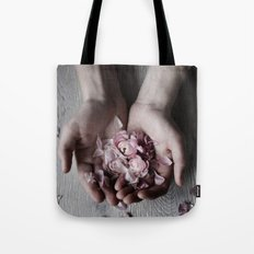 The wild flowers grows here Tote Bag