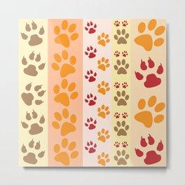 Animal paw prints Metal Print