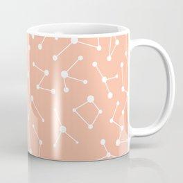 Peach Constellation Pattern Coffee Mug