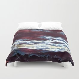 Dreaming mountains Duvet Cover