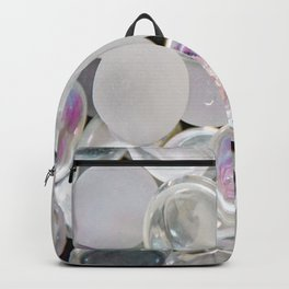 White Glass Marble Backpack