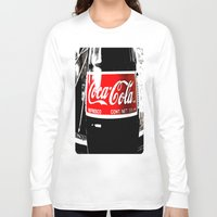 coca cola Long Sleeve T-shirts featuring Coca-Cola Nostalgia by Vorona Photography