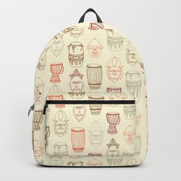 African drums and masks Backpack