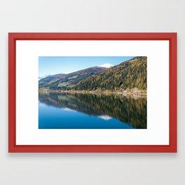 Lake / ekaL Framed Art Print