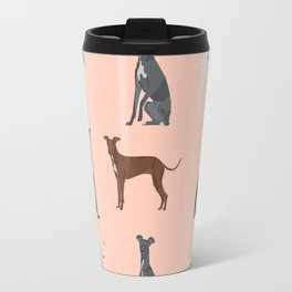 Italian Greyhound dog breed pet portrait unique pure breed gifts Travel Mug