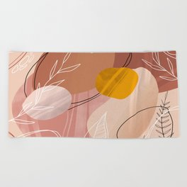 Abstract Peach Beach Towel