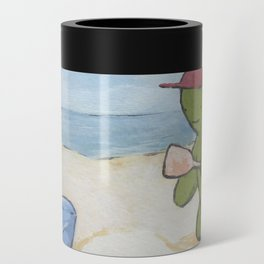 at the beach Can Cooler
