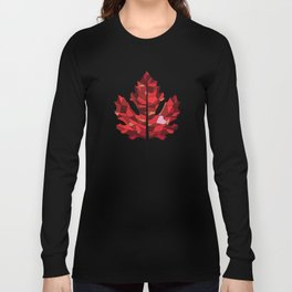 A Maple Leaf with Heart Long Sleeve T-shirt